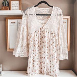 Ralph Lauren denim & supply lace mini dress XS